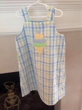 REVERSIBLE SPRING DRESS SIZE 6 EASTER EGGS & ice cream cones cute