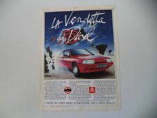 advertising Pubblicità 1988 CITROEN BX TRD TURBO