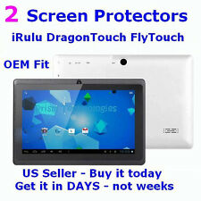2x - Premium Screen Protectors - 7 inch iRulu Android Tablet  Clear Dry Apply