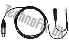Cable for Heil microphones 3 pin XLR to 8p8c RJ45 Icom IC-706 IC-7000 etc