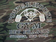 Power House Gym Logo Body Builder Francis Syosset New York Camo T Shirt Size 3XL