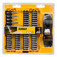 DEWALT Smoke Sunglasses & 53 Pce Pz,Torx,Slot Screwdriver & Holder Bits,DT71540