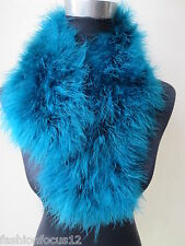 Free shipping/real ostrich feather fur scar/70cm*14cm  Peacock blue
