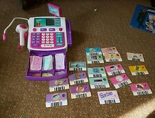 Shop With Me Barbie Cash Register WORKING W CARDS MONEY SAVINGS CARD CREDIT