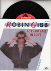 "ROBIN GIBB Boys Do Fall In Love PICTURE SLEEVE BEE GEES 7"" 45 rpm vinyl record"