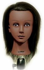 """Celebrity African American Cosmetology Ethnic Human Hair Mannequin, 16""""-17"""""""