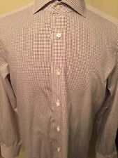 Ermenegildo Zegna Men's Shirt Long Sleeve Multi-color 100% Cotton Size 16/41/M.
