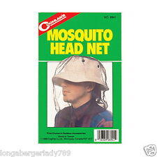 COGHLANS MOSQUITO HEAD NET BUG INSECTS OVER HAT PROTECTION BEES CAMPING FISHING