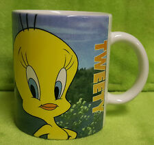 Vintage 1996 Looney Tunes Tweety Bird Sylvester The Cat Coffee Cup Mug