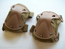 NEW - Coyote Tan Hard Shell Defence Knee Pads - Extreme Protection - Airsoft
