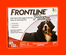Frontline Plus (3-Pack) RED for Dogs 89-132 lbs **Free Shipping**