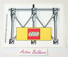 Lego STICKER SHEET - Lego Logo Trademark Sign * NEW Condition