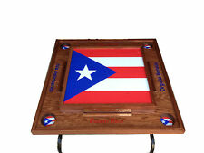 Puerto Rico Domino Table with the flag -full Dark
