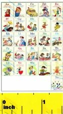 DOLLSHOUSE Miniature Vintage Nursery  School ABC  Alphabet Poster - CDHM 1:12