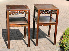 A Pair of Chinese Hardwood High Tea Tables #20160001