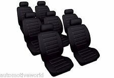 Car Seat Covers Set for Seat Alhambra (2000-2010) Black Leatherlook Cosmos 66583