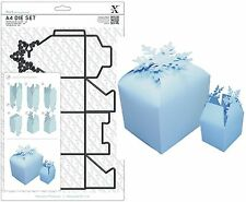 DOCRAFTS XCUT A4 DIE SET BUILD 3D SNOWFLAKE GIFT BOX CUTTING DIES UNIVERSAL FIT