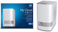 8TB Western Digital WD My Cloud MIRROR 8 TB External Hard Drive WDBZVM0080JWT