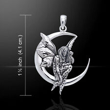 Amy Brown Fairy Moon Dream .925 Sterling Silver Pendant by Peter Stone