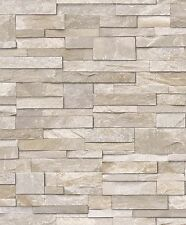 3D Realistic Brick Slate Washable Wallpaper Sandstone Stone Free Delivery
