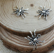 NEW Wholesale 10pcs Tibet silver Spider Crafts Charms Pendants Making Jewelry