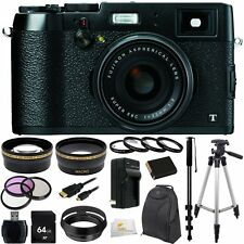 Fujifilm X100T 16 MP Digital Camera in Black + 64GB Pro Accessory Bundle!! NEW!!