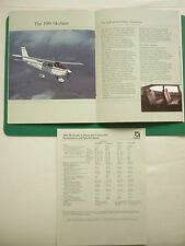 PLAQUETTE 12 PAGES CESSNA AIRCRAFT SKYHAWK CUTLASS SKYLANE CUTLASS RG
