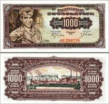 YUGOSLAVIA 1000 1,000 DINARA 1963 UNCIRCULATED P 75