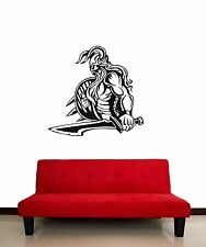 Wall Stickers Vinyl Decal Barbarian Warrior Viking with Sword ig586