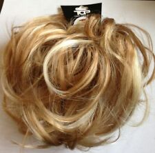 Hair Piece Scrunchie for Bun Or Ponytail Blonde & Golden Mix Highlights BRH40