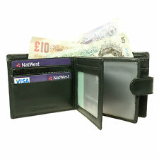 Slim Thin Luxury Real Black Leather Credit Card/Bank Notes Holder Wallet 6867