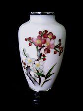 "Antique Japanese Ando Jubei cloisonne Cherry Blossom vase 5"" ca 1910"