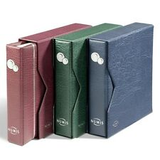 RED NUMIS Coin Album incl. 5 Pockets and Slipcase, collector, gift, 338789
