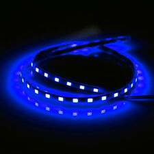 Blue 12V Waterproof Flexible LED Neon Strip Light Lamp For Motorcycle Car 45cm