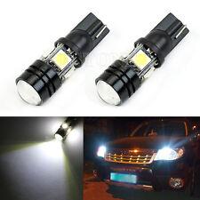 2x T10 12V W5W 1.5W 5050 SMD 4-LED Xenon Blanc Wedge ampoule lampe