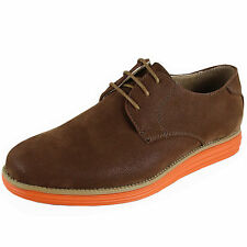 New youth teen big boy shoes brown suede like synthetic lace up casual size 4.5