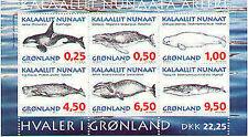 Groenland 1996  Walvissen blok    postfris/mnh