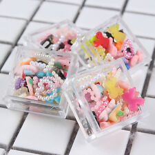 2g/Box Candy Color 3D Nagel Schmuck Nail Dekoration Cartoon Schleife Perlen Neu