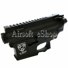 Airsoft APS Logo Upper & Lower Metal Body for M4/M16 AEG Black