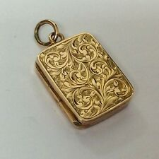 PRETTY ANTIQUE ROSE GOLD LOCKET HALLMARKED 1902 BY WILLIAM HAIR HESSLER