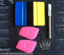 3M Blue Felt Wrapped squeegee Lil Chizler xacto knife tool combo kit shop home