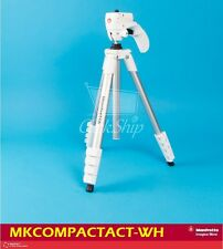 Manfrotto White Compact Action Aluminum Tripod with Bag Mfr # MKCOMPACTACN-WH