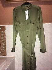 BNWT - Ralph Lauren Military Olive Belted Shirt Dress. Size 0 - UK 4-6