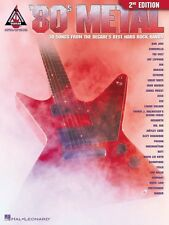 80s Metal 2nd Edition Sheet Music Guitar Tablature Book NEW 000690430