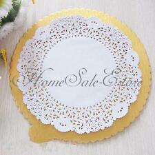 "10X 9.5"" Lace Doily Wedding Party Cupcake Cake Cookies Round Paper Pads Placemat"