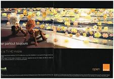 Publicité Advertising 2006 (2 pages) Orange avec Arthur et les Minimoys