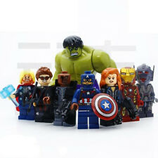 THOR IRON MAN HULK NICK HAWKEYE Ultron 8 Minifigures Building Toys Custom LEGO