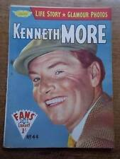 Vtg No 44 Magazine 1958 Fans Star Library Exciting Glamour Photos KENNETH MORE