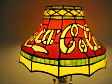 Coca-Cola Coke Plastic Tiffany Stained Glass Style Lamp Shade