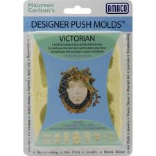 "AMACO Designer Silicone Push Mold ""VICTORIAN"" Faces &  Words JEWELRY ART DOLLS +"